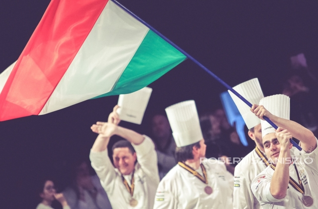 Team Hungary, Bocuse d'Or Grand Finale, Lyon, 2017. Photo: © Robert Szaniszló