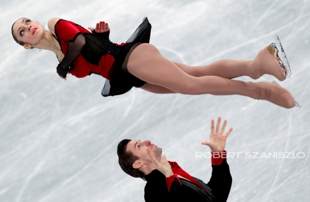 Stefania Berton and Ondrej Hotarek, ISU Figure Skating European Championship, Budapest, 2014 -  Photo: © Robert Szaniszló