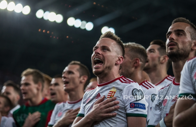 Players of Hungarian Team, HUN- WAL football match, Budapest, 2019 -  Photo: © Robert Szaniszló